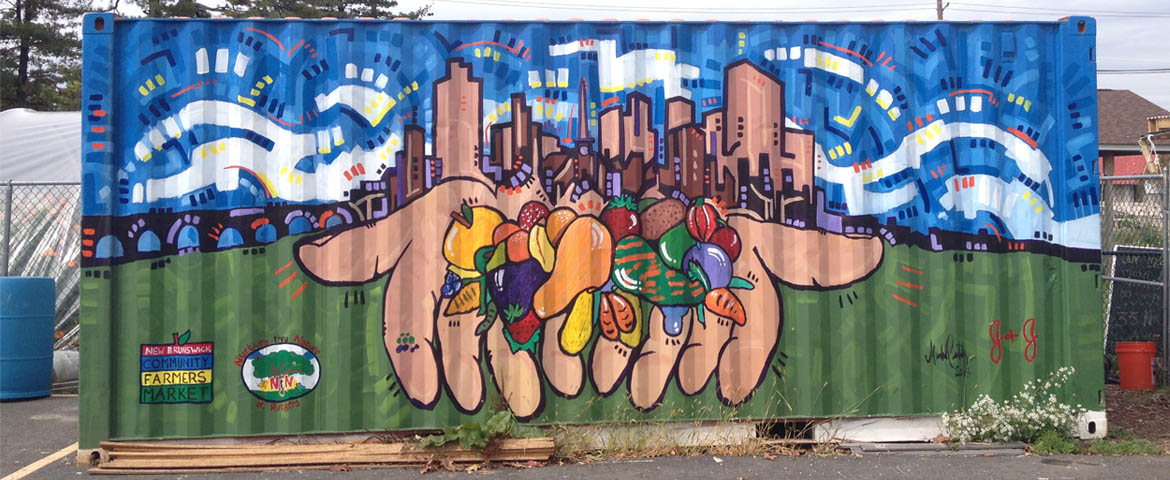 Photo: New Brunswick Community Farmers Market mural