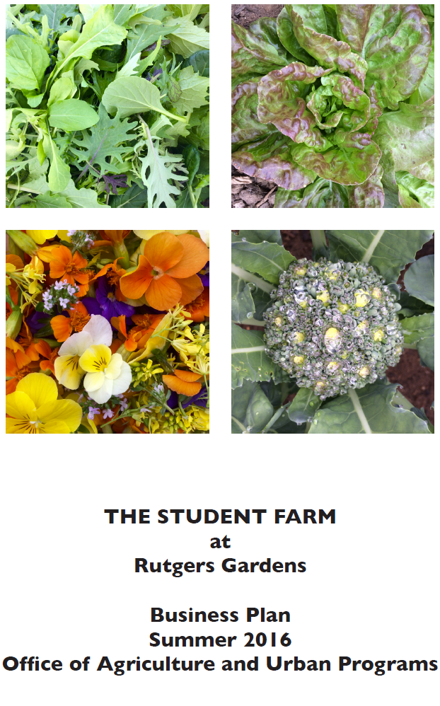 Student Farm Businesss Plan Cover